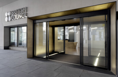 Entrance of British Council building in Central London