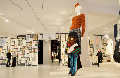 Magnetic sketchwall in Fashion Museum Antwerp