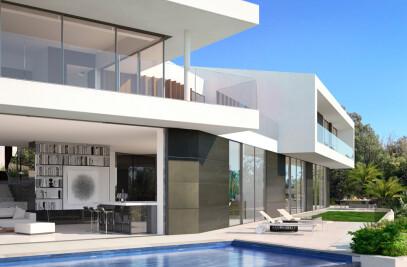 3D rendering of a luxury house in Bel Air