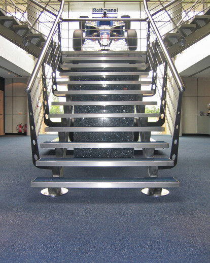 Williams F1 - Straight Stainless Steel Staircase
