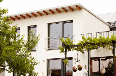 Semi-detached house exceeds sustainability standards
