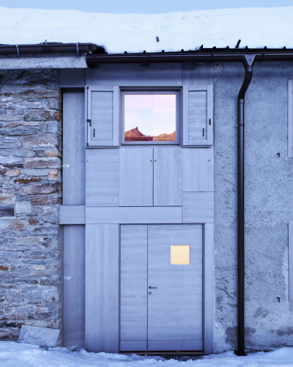 Microrifugio alpino – Wardrobe in the landscape
