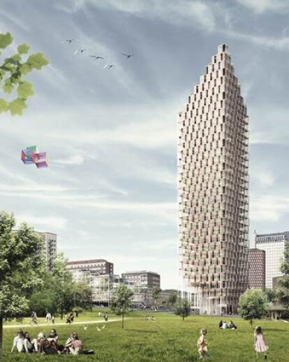 The world's tallest wooden skyscraper