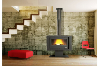 Fireplace decorated modern home