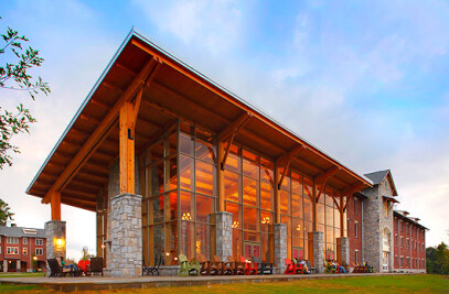 The Berry College Timber Frame Common Room Design