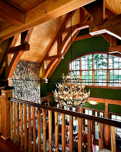 Exquisite Timber Truss Spanned Great Rooms