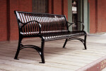 CV1-1010 Onyx CityView Backed Bench with Cast Ends