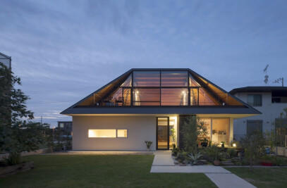 House with a large hipped roof