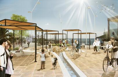 Ibiza promenade and public space