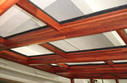 Beams on roof