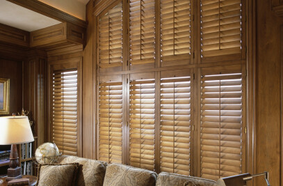 Our Custom Hardwood Traditional shutters
