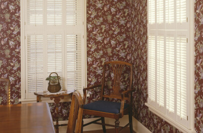 Custom Hardwood Plantation-style shutters