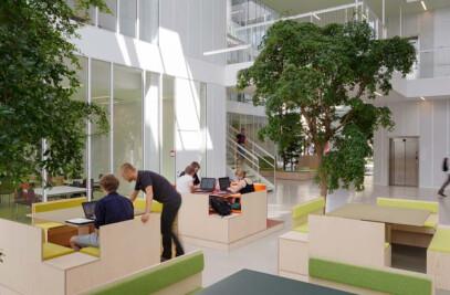 Revolutionary hybrid ventilation system, for new building. Technical University of Denmark