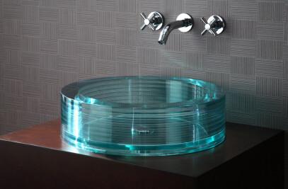 Segment round Glass Vessel