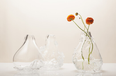 2x Glass Vases