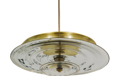 Nested Mirrored Disc Chandelier