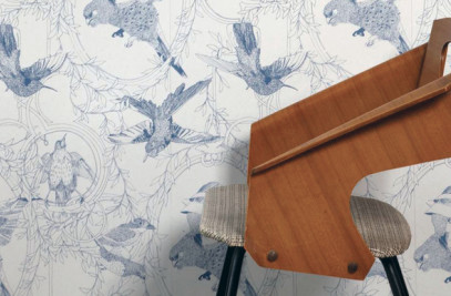 Taxidermy Birds Wallpaper