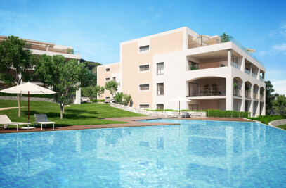 Architectural rendering of a multi-family residential in Mallorca