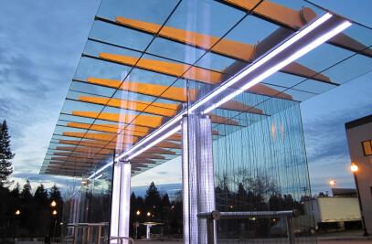Trimet LED Bus Stop Shelter