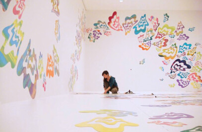 MagnetPaint used in Soya Asaes exhibition SORA IRO(color of the air)
