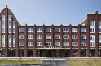Appartment building with retail spaces