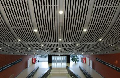 Curved Metal Ceilings Interior