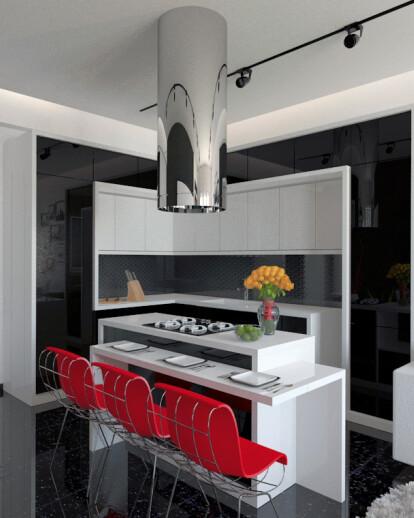 Kitchen and Living Room by gogoberishvili davit