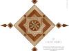 Wood Floor Medallion - 8 RAYS MARQ