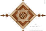 8 RAYS MARQ Hardwood Floor Medallion Inlays