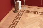The GREEK KEY hardwood floor border