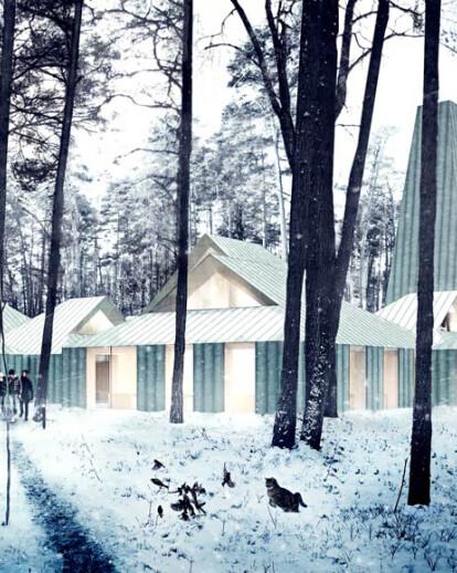 Architectural rendering Arvo Part Centre