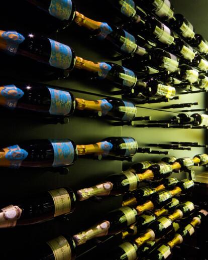 New York Upscale Townhouse Home to Posh Black Wine Cellar