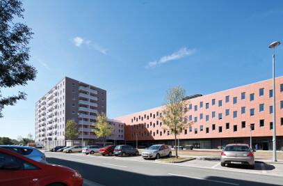 Vrbani III, Mixed use building