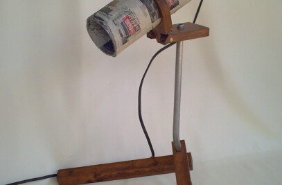trubal newspaper  lamp
