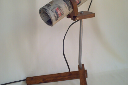 trubal newspaper  lamp