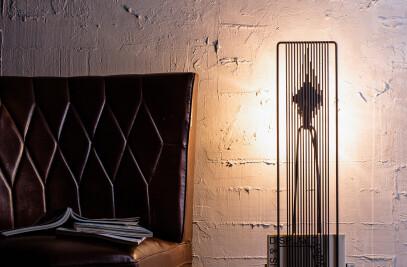 Fire floor lamp