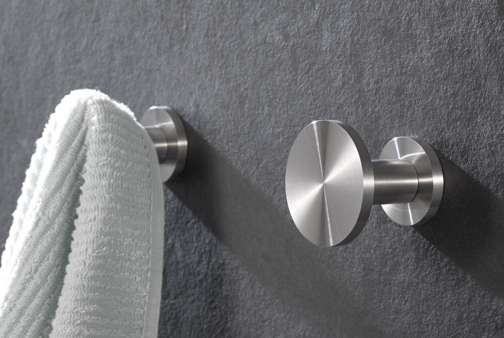 Wall hooks in stainless steel design