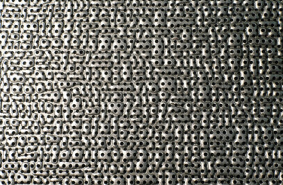 Perforated Deep-Textured Metal