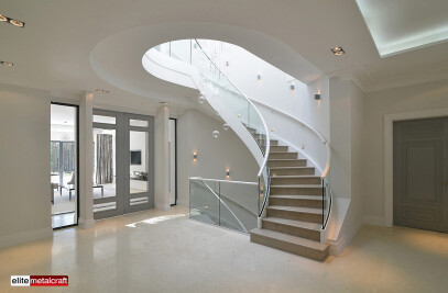 BESPOKE METAL HELICAL STAIRCASE IN ALBANY, WENTWORTH