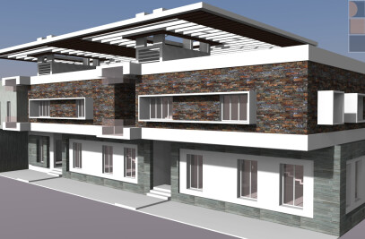 Residential Design and development for Mr.Balaji and brothers - House for 3 brothers