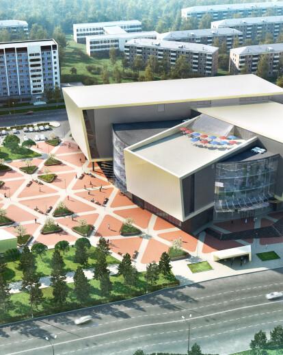 Shopping centre project, Bratsk, visualization  | lightcache