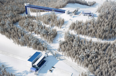 Alpine skiing complex project, Khanty-Mansyisk, visualization.