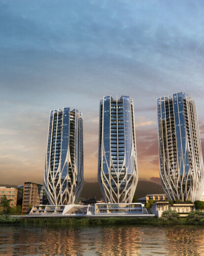 Three residential towers for Brisbane Riverfront Development
