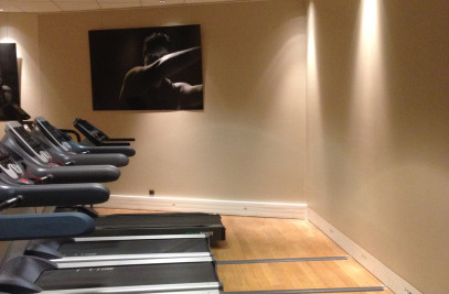 Bank fitness room (painting when occupied)
