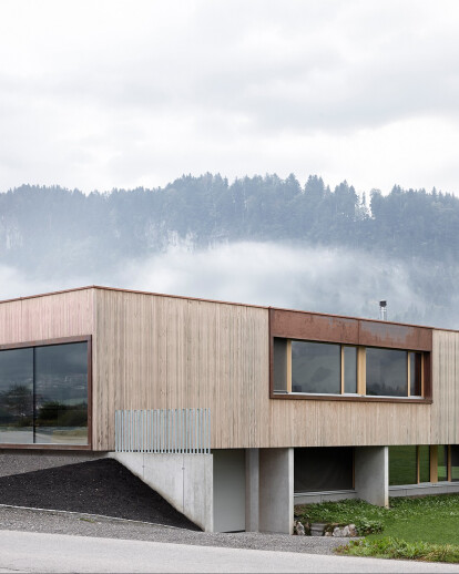 House with showroom