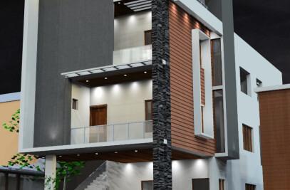Residential Architecture Design and development for Mr.Karthik Anandan - Nemellichery, Chennai