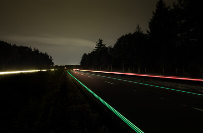 Smart Highway with Glowing Lines live