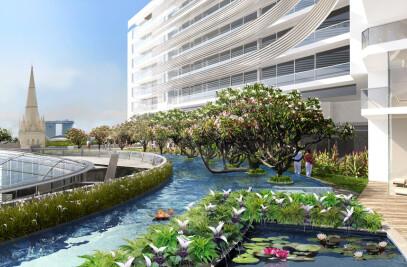 Landscape designs for Capitol Singapore