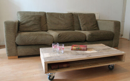 Pallet Coffee Table On Wheels By Gas Air Studios Archello