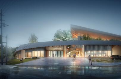 Dalseong-gun Citizen's Gymnasium - Encircling Nature and People